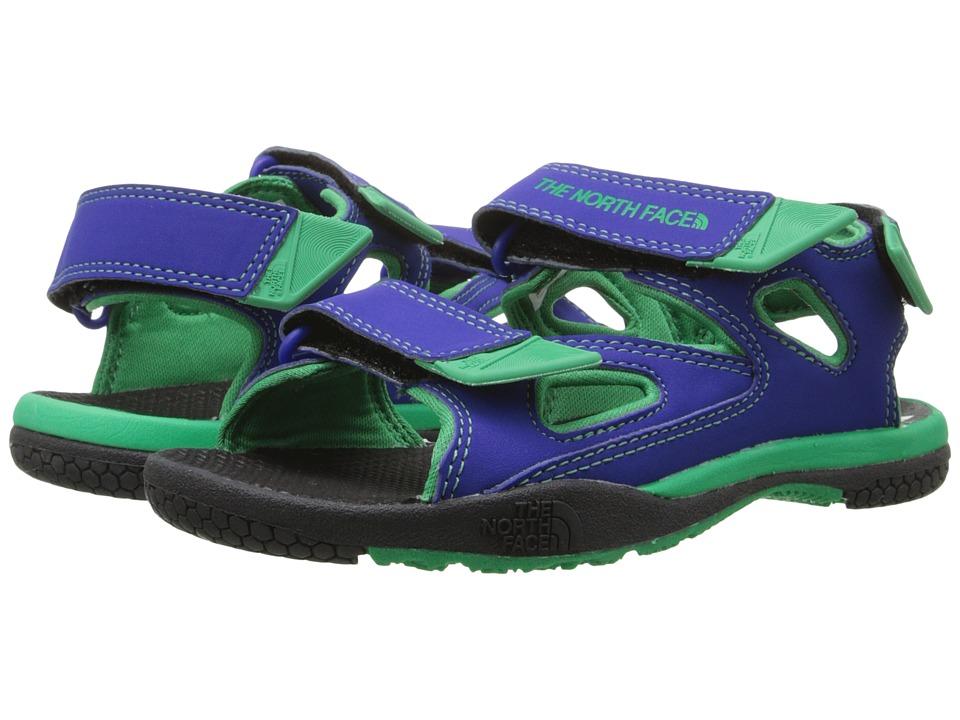 The North Face Kids Jr Base Camp Coast Ridge (Toddler/Little Kid/Big Kid) (Marker Blue/Blarney Green) Boys Shoes