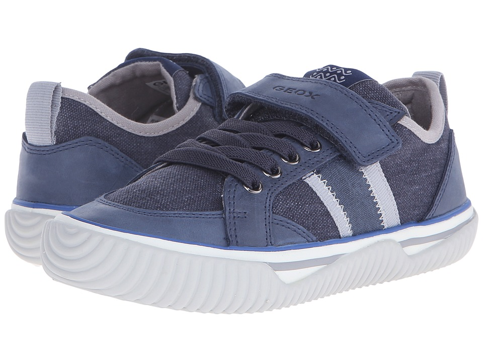 Geox Kids - Jr Australis Boy 3 (Little Kid/Big Kid) (Navy/Grey) Boy's Shoes