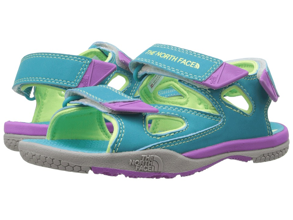 The North Face Kids - Jr Base Camp Coast Ridge (Toddler/Little Kid/Big Kid) (Bluebird/Budding Green) Girls Shoes