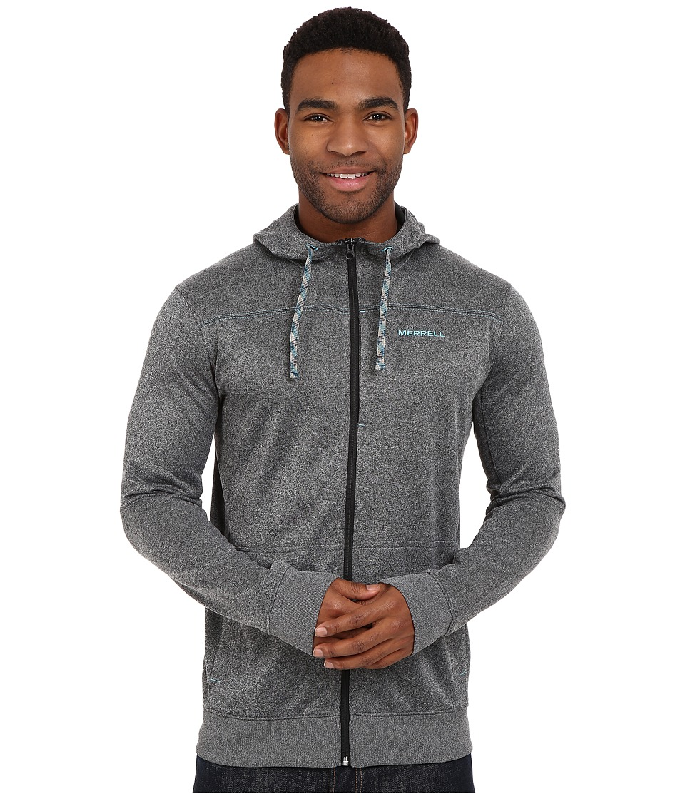 Merrell - Passport Full Zip Hoodie (Black Heather) Men's Sweatshirt