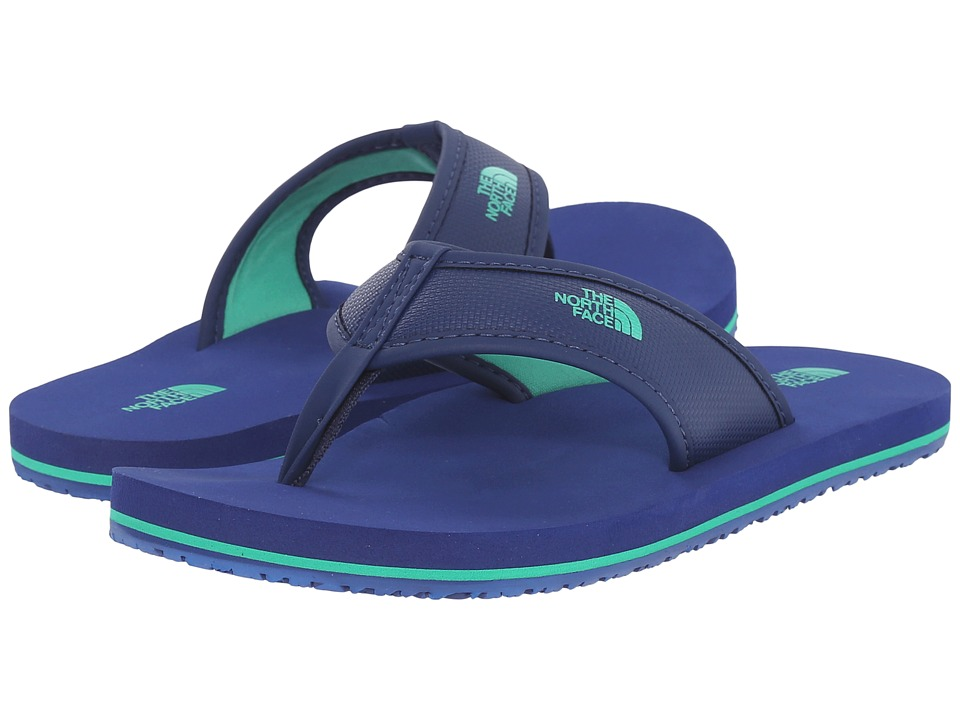The North Face Kids - Base Camp Flip-Flop(Toddler/Little Kid/Big Kid) (Marker Blue/Blarney Green) Boys Shoes