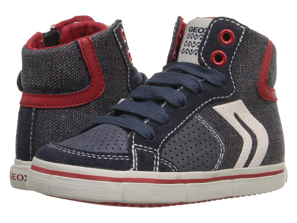 Geox Kids - Jr Kiwi Boy 52 (Toddler/Little Kid) (Blue/Red) Boy's Shoes