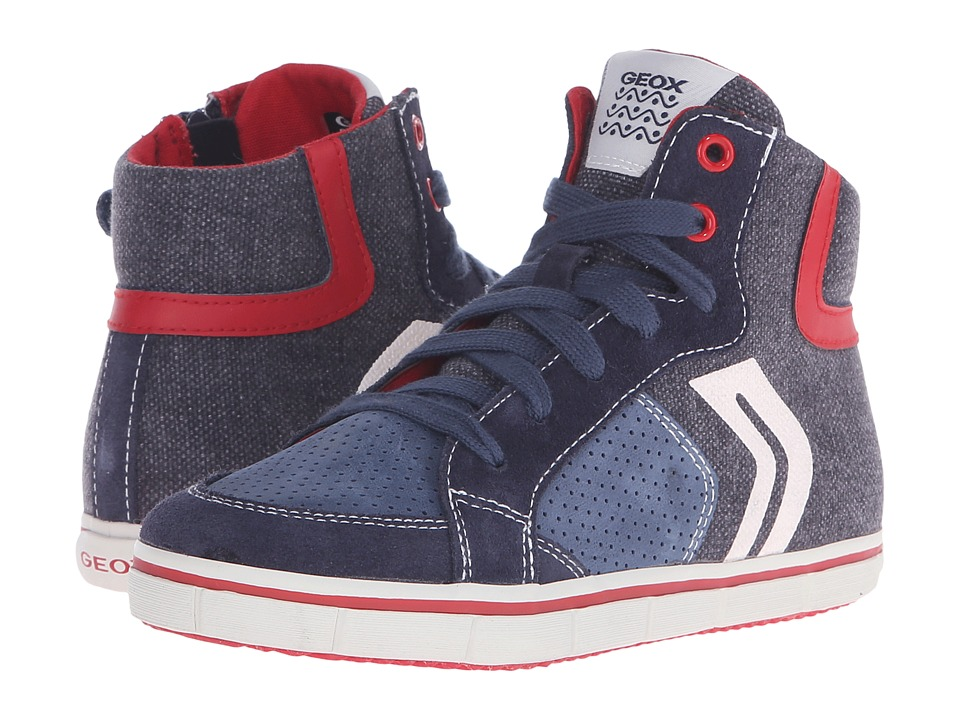 Geox Kids - Jr Kiwi Boy 52 (Little Kid/Big Kid) (Blue/Red) Boy's Shoes