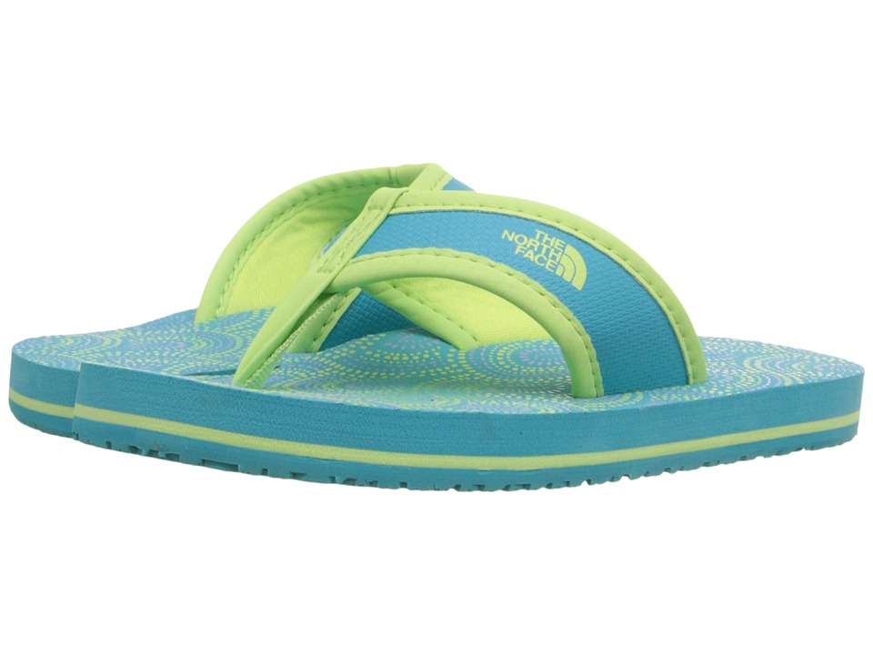 The North Face Kids - Base Camp Flip-Flop (Toddler/Little Kid/Big Kid) (Bluebird/Budding Green) Girls Shoes