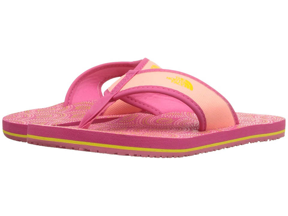 The North Face Kids - Base Camp Flip-Flop (Toddler/Little Kid/Big Kid) (Cha Cha Pink/Blazing Yellow) Girls Shoes