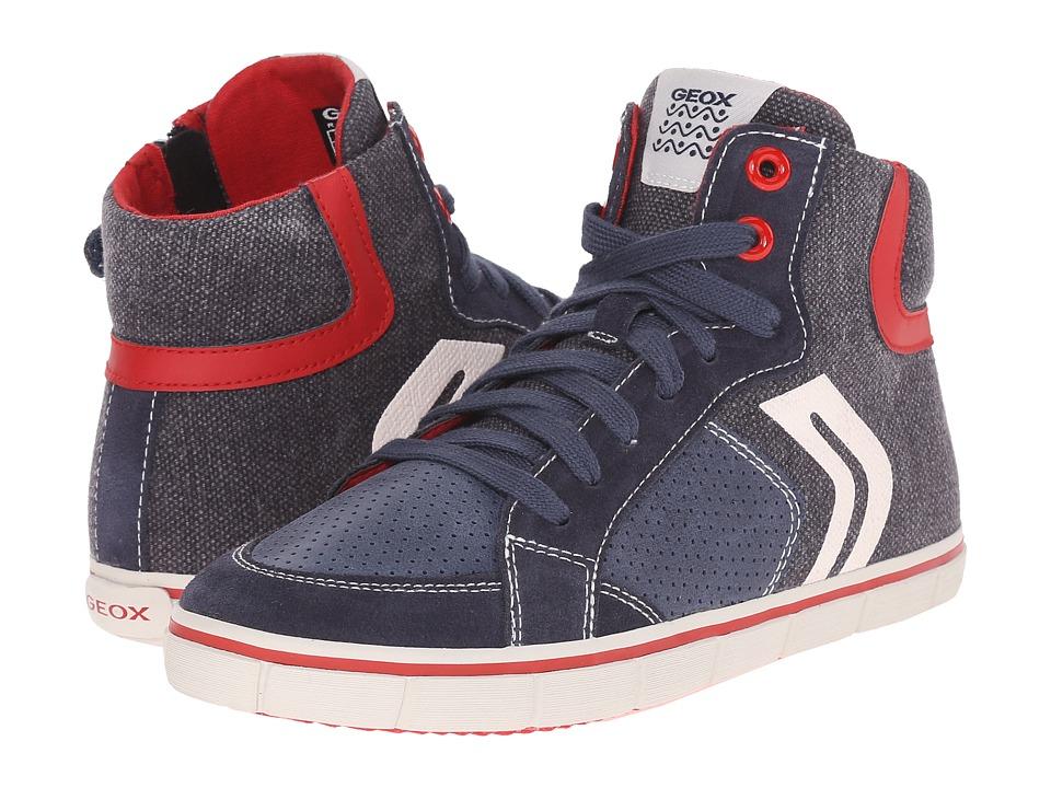 Geox Kids - Jr Kiwi Boy 52 (Big Kid) (Blue/Red) Boy's Shoes