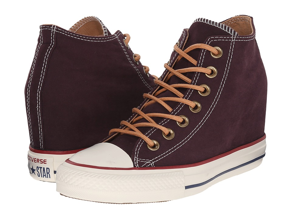 Converse - Chuck Taylor(r) All Star(r) Lux Mid (Black Cherry/Biscuit/Egret) Women's Shoes