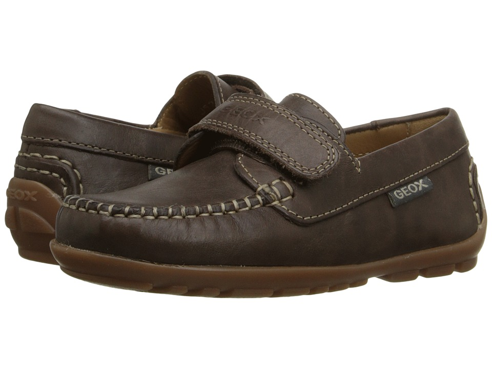 Geox Kids - Jr Fast 20 (Little Kid) (Brown) Boy's Shoes