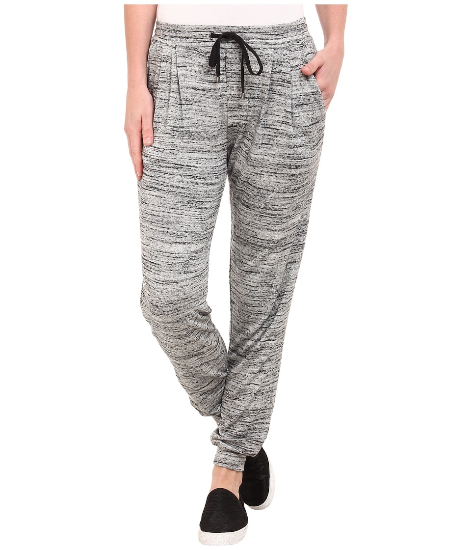 Three Dots - Pleated Slim Sweatpant (Granite) Women's Fleece