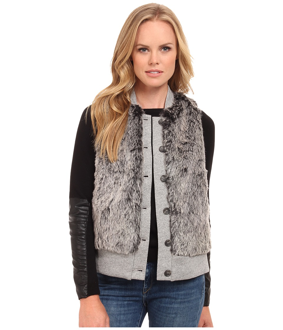 Three Dots - Fur Vest (Charcoal) Women's Vest