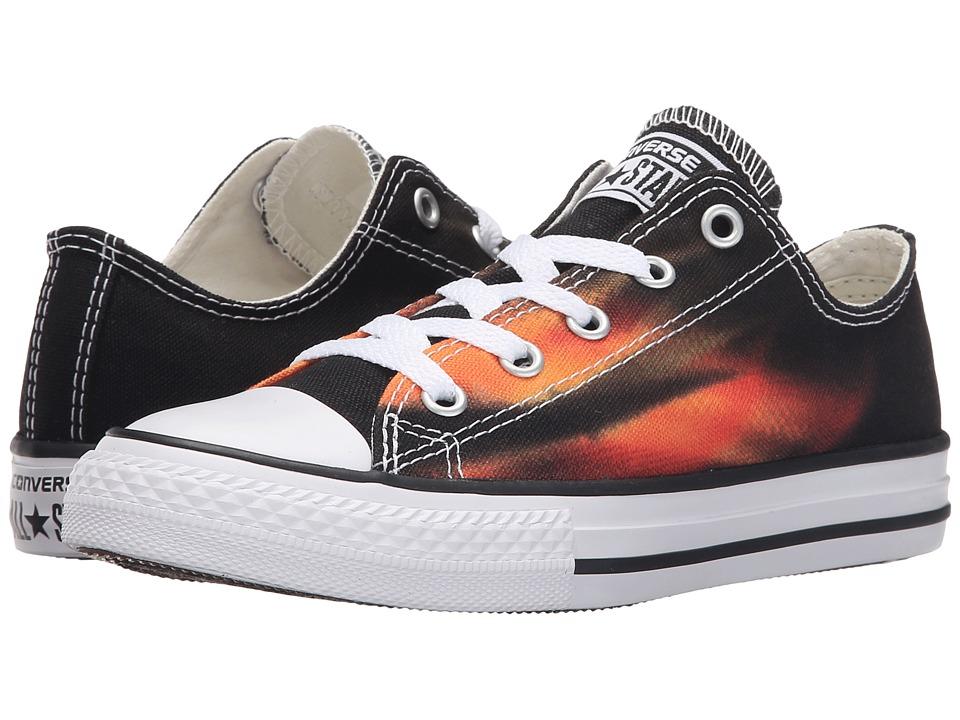 Converse Kids - Chuck Taylor All Star Ox (Little Kid/Big Kid) (Black/Solar Orange/Casino) Boys Shoes