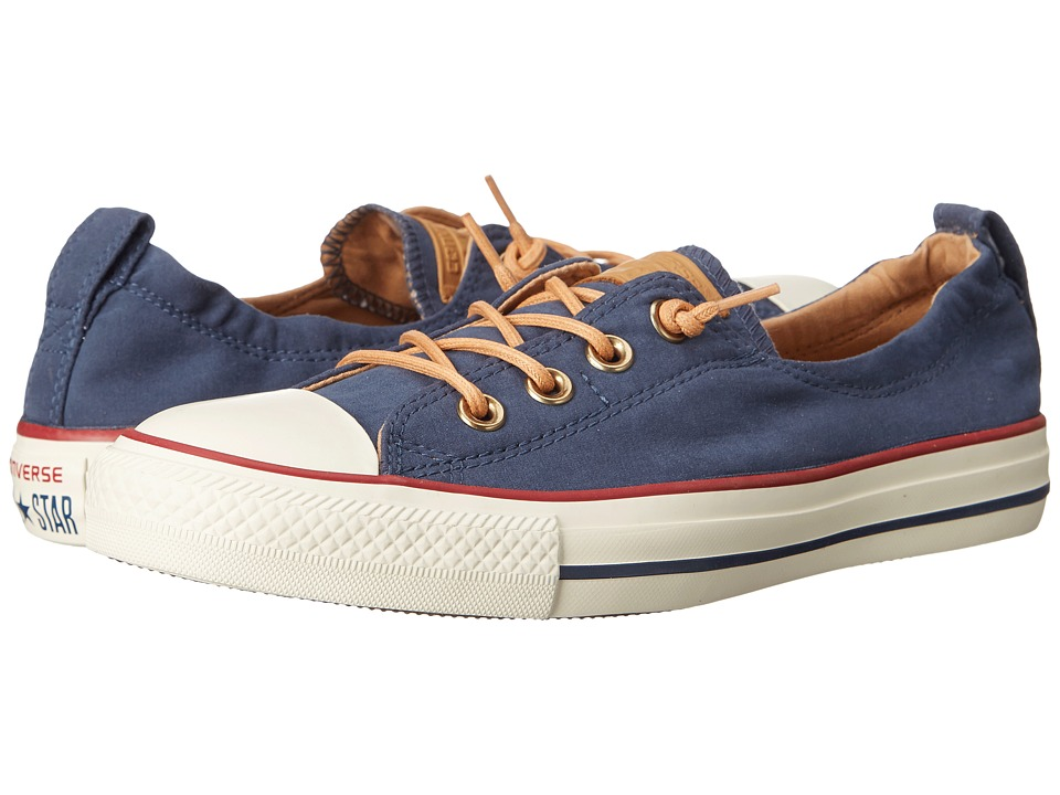 Converse - Chuck Taylor All Star Shoreline Peached Canvas (Navy/Biscuit/Egret) Women's Lace up casual Shoes