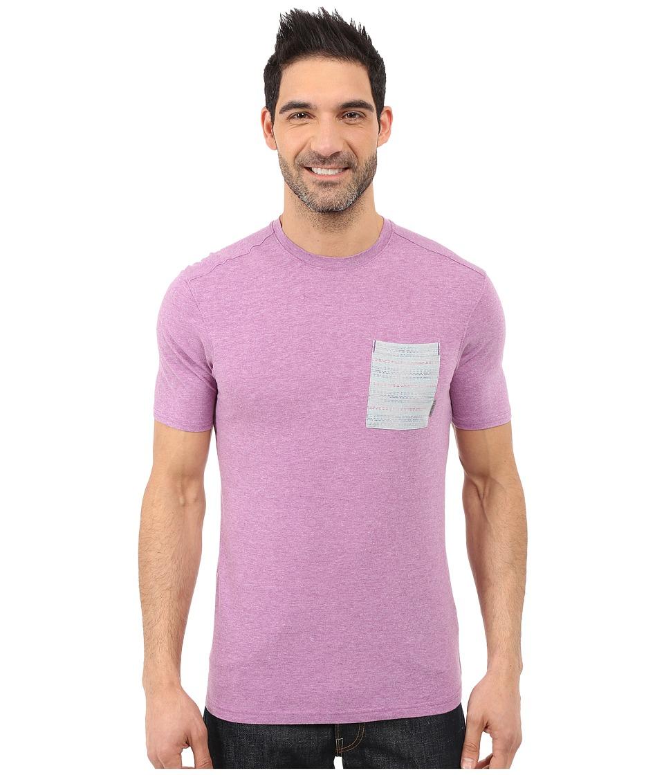 Merrell Pasco Printed Pocket Crew Tee (Hyacinth Violet Heather) Men