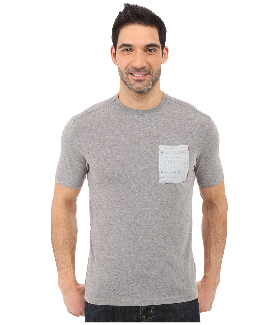 Merrell Pasco Printed Pocket Crew Tee (Manganese Heather) Men