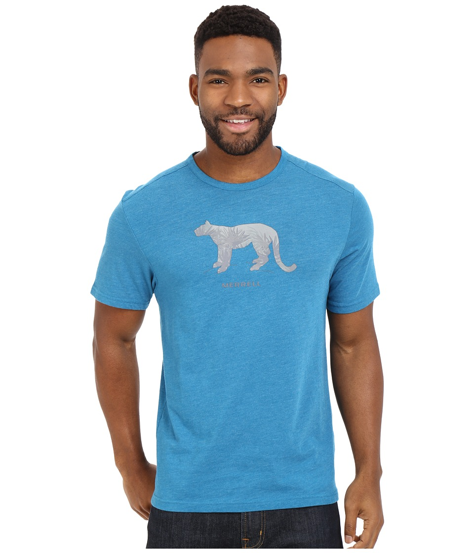 Merrell - Big Cat Graphic Tee (Celestial Heather) Men's Short Sleeve Pullover