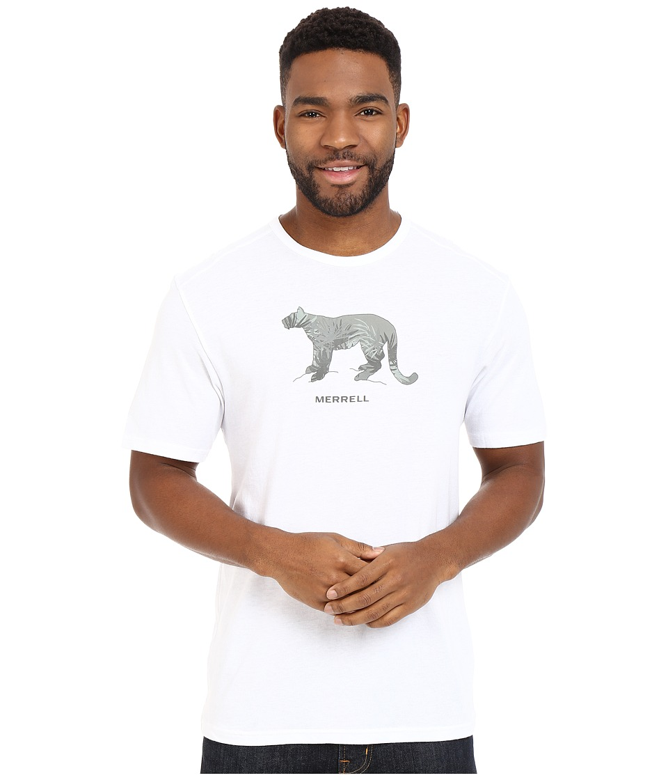 Merrell - Big Cat Graphic Tee (White) Men's Short Sleeve Pullover