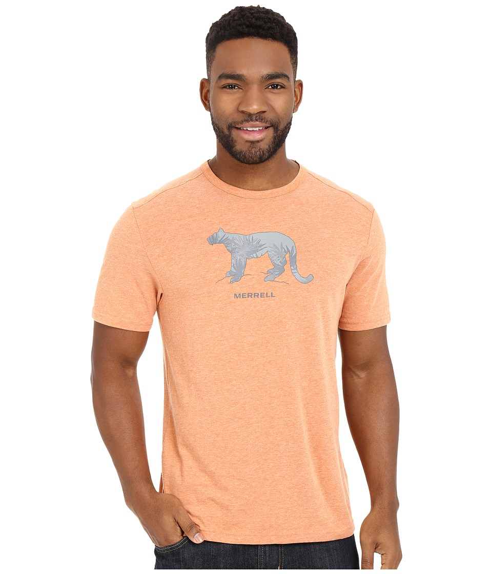 Merrell - Big Cat Graphic Tee (Burnt Orange Heather) Men's Short Sleeve Pullover