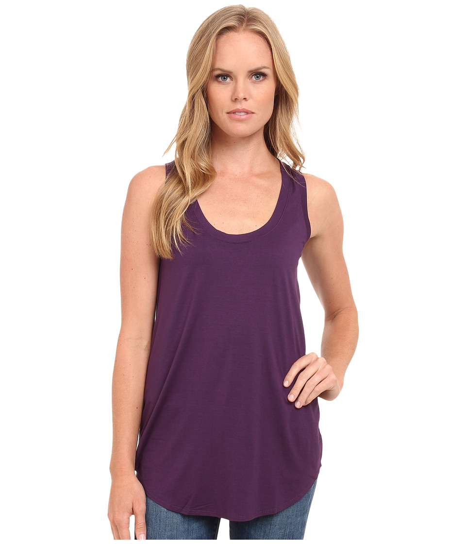 Three Dots - Lightweight Viscose Long Tank (Shadow Purple) Women's Sleeveless