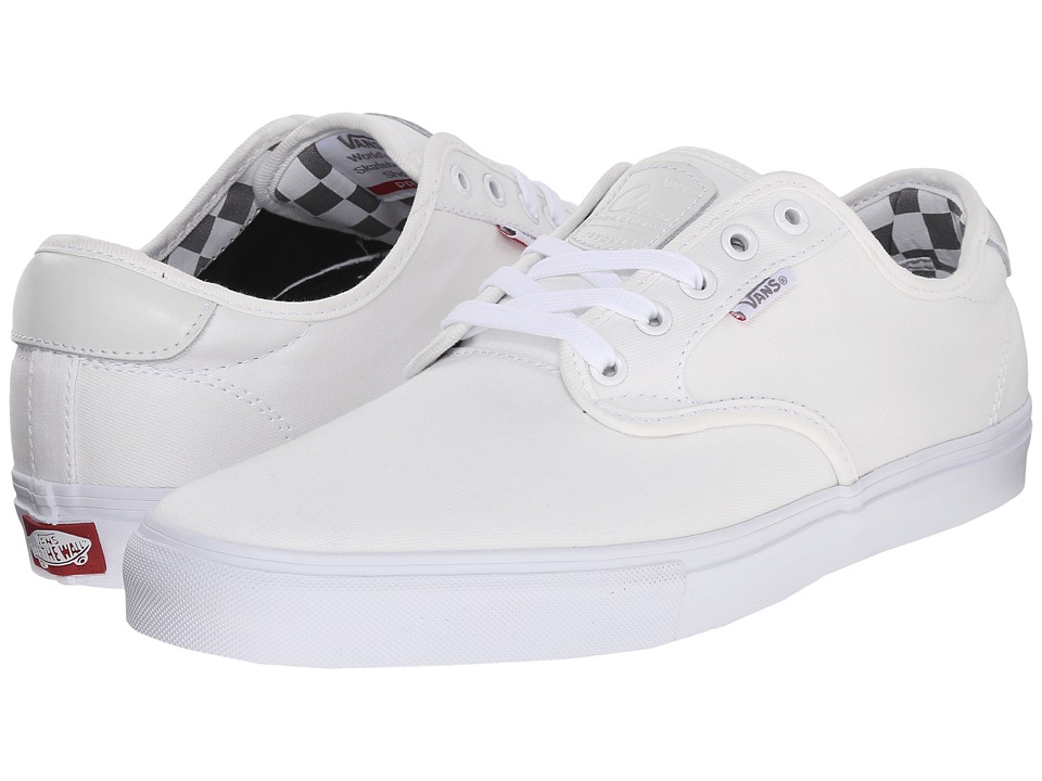 Vans - Chima Pro ((Mono) White/White) Men's Skate Shoes