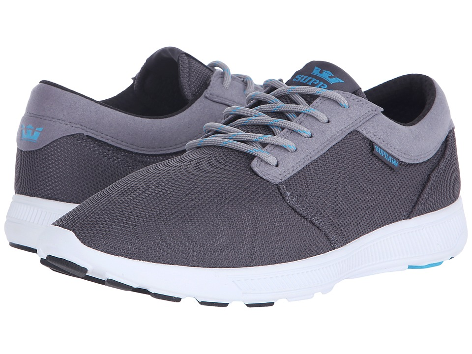 Supra - Hammer Run (Charcoal/Light Grey/White) Men's Skate Shoes
