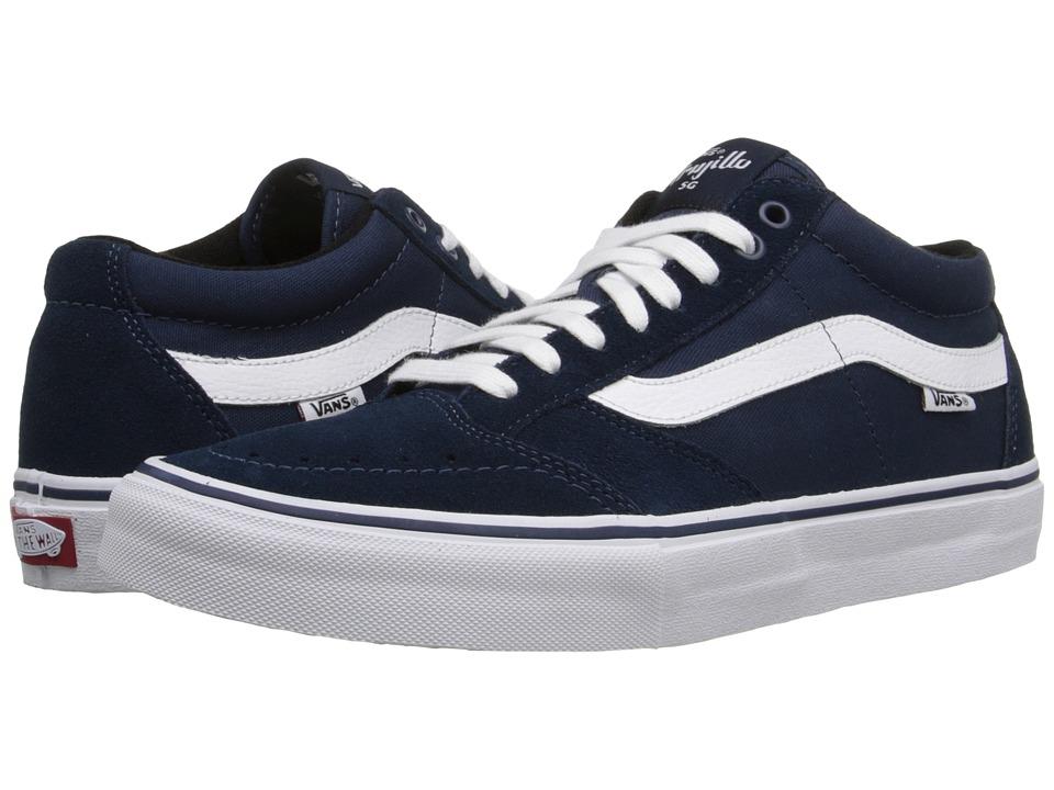 Vans - TNT SG (Navy/White) Men's Skate Shoes