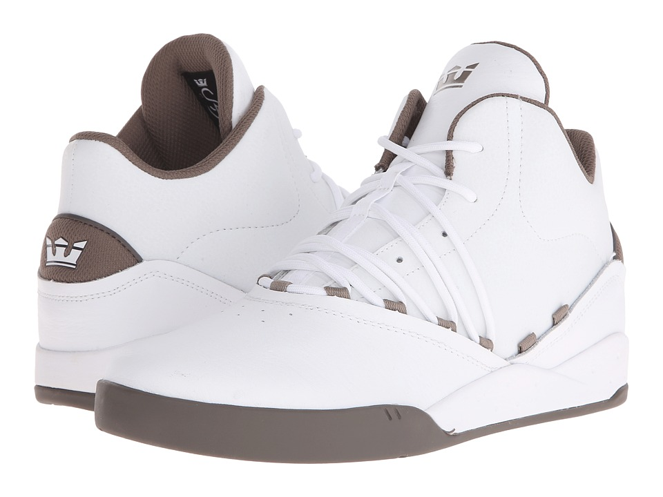 Supra - Estaban (White/Morel/Morel) Men's Skate Shoes