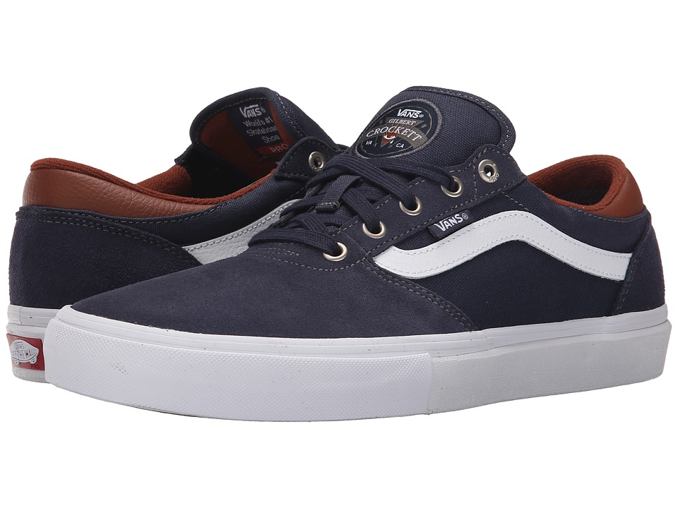 Vans - Gilbert Crockett Pro (Navy/White/Leather) Men's Skate Shoes
