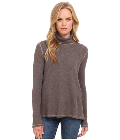 Three Dots - Long Sleeve Relaxed Turtleneck (Mauve Wood) Women