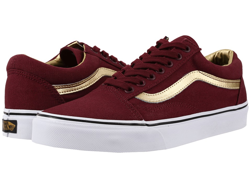 Vans - Old Skool ((50th) Port Royale/Gold) Skate Shoes