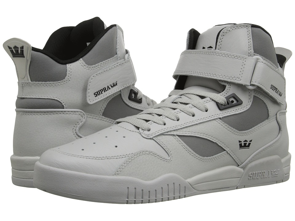 Supra - Bleeker (Light Grey/Black/Light Grey) Men's Skate Shoes