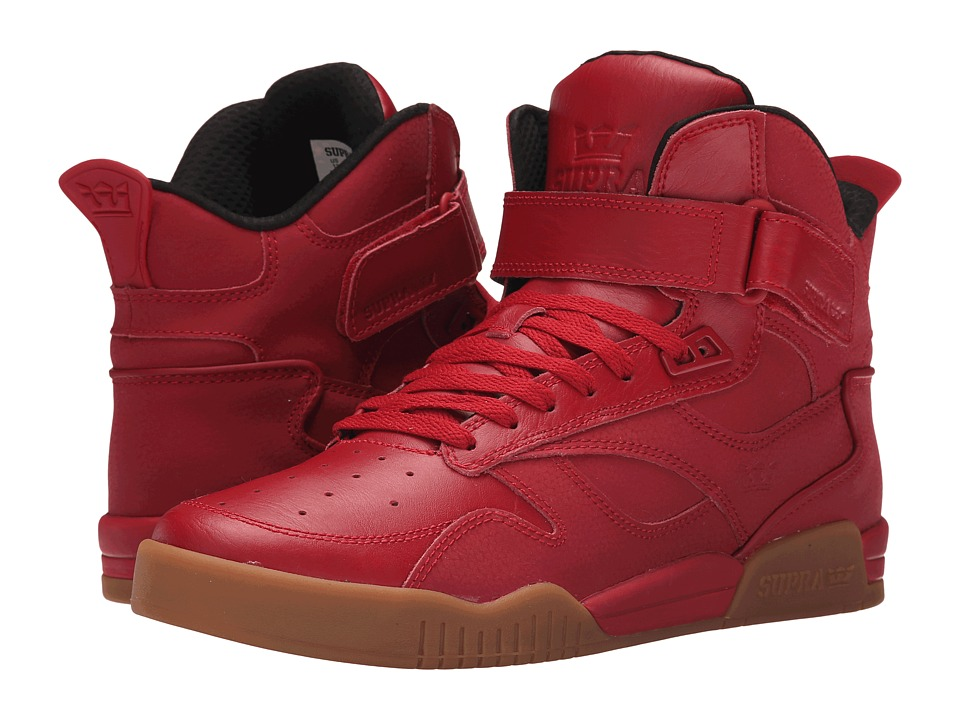 Supra - Bleeker (Red/Gum) Men's Skate Shoes
