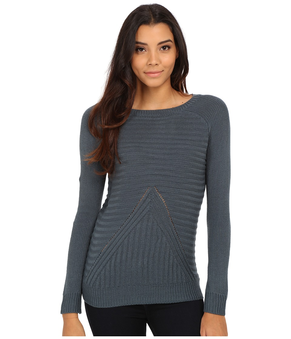 Olive & Oak - V Stitch Pullover (Antique Teal) Women's Sweater
