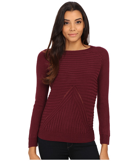 Olive & Oak - V Stitch Pullover (Raisin Tart) Women's Sweater