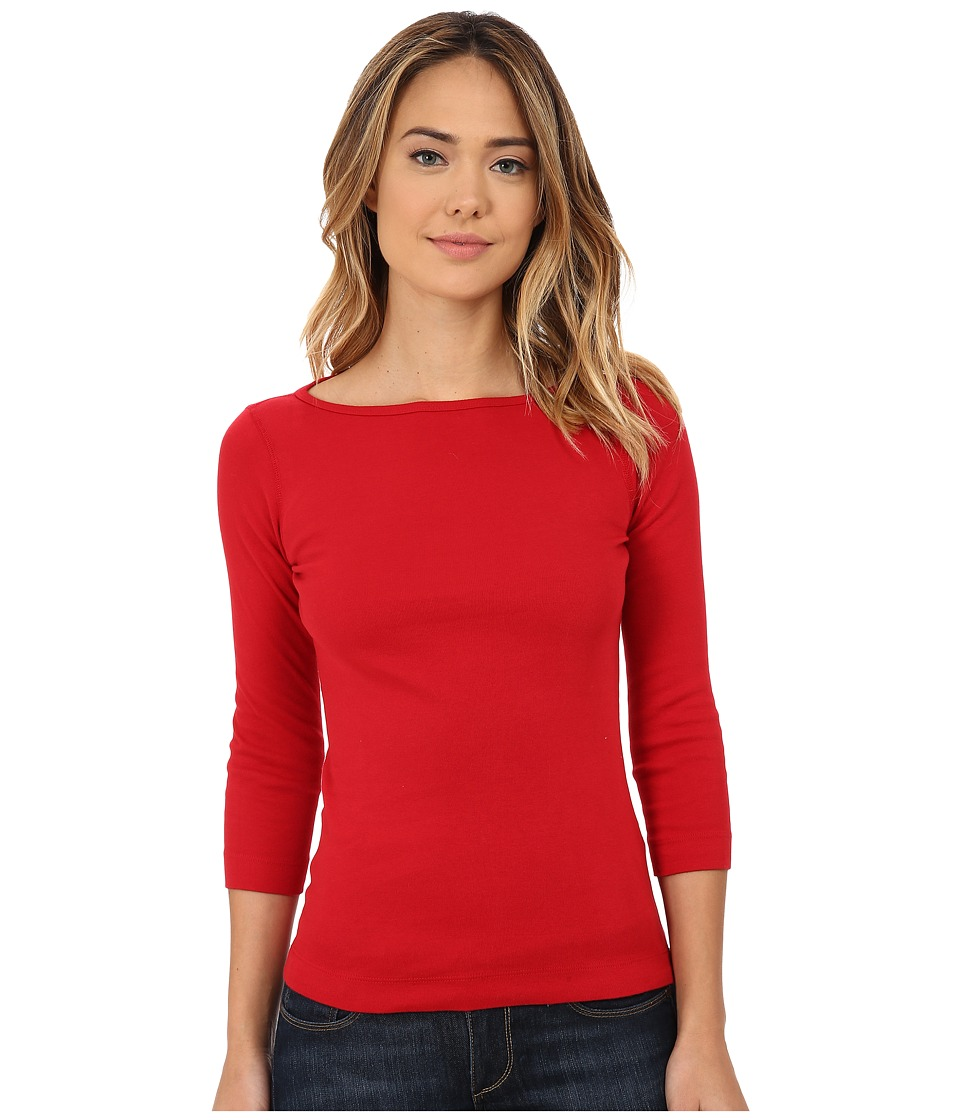 Three Dots - 3/4 Sleeve British Tee (Red Graffiti) Women