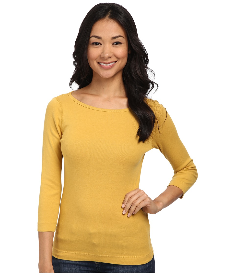 Three Dots - 3/4 Sleeve British Tee (Urban Gold) Women