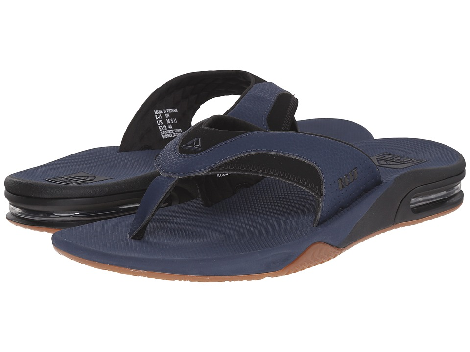 Reef - Fanning (Navy/Gum) Men's Sandals