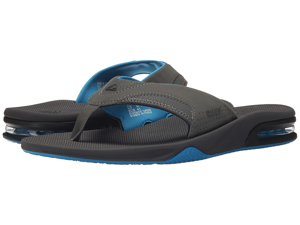 Reef - Fanning (Gunmetal Blue) Men's Sandals