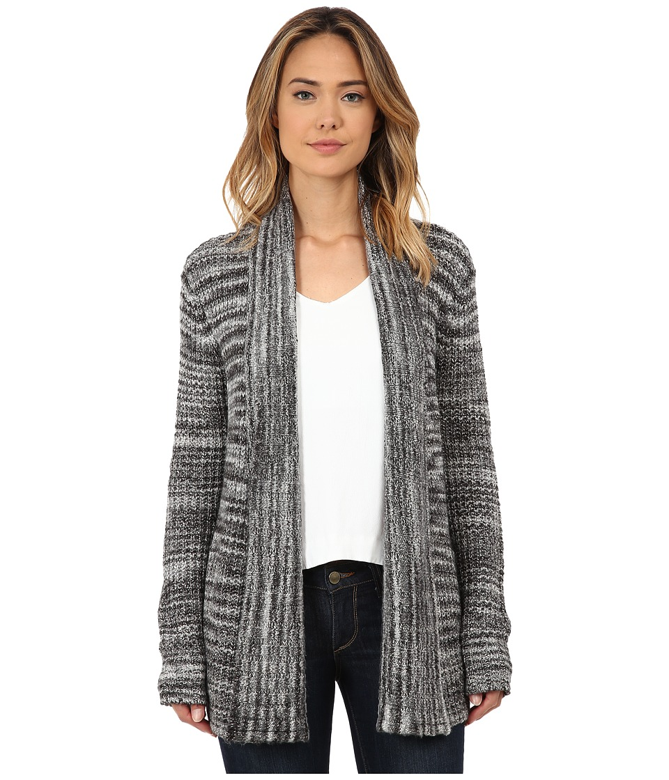 Three Dots - Long Sleeve Cardigan (Black Combo) Women's Sweater