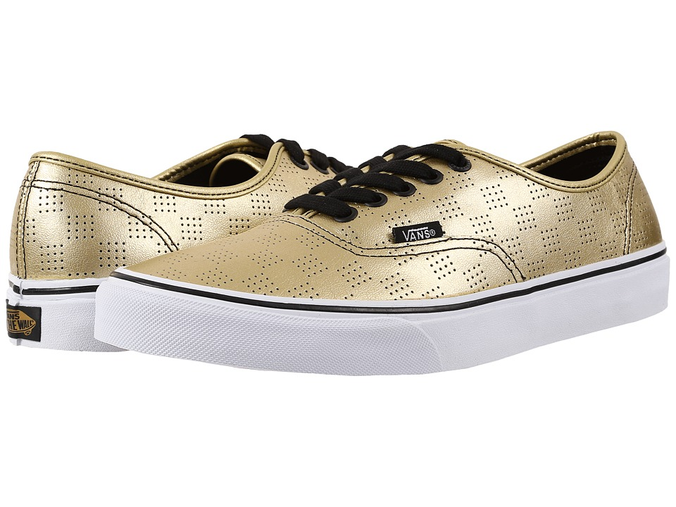 Vans - Authentic ((50th) Gold/Checker) Skate Shoes