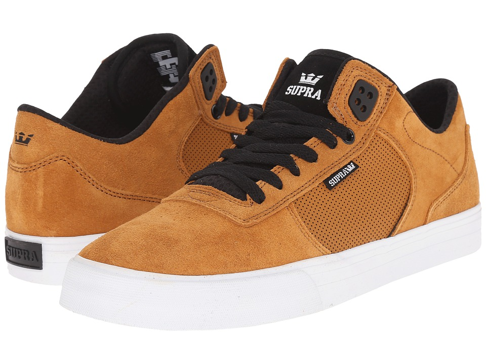 Supra - Ellington Vulc (Cathay Spice/Black/White) Men's Skate Shoes