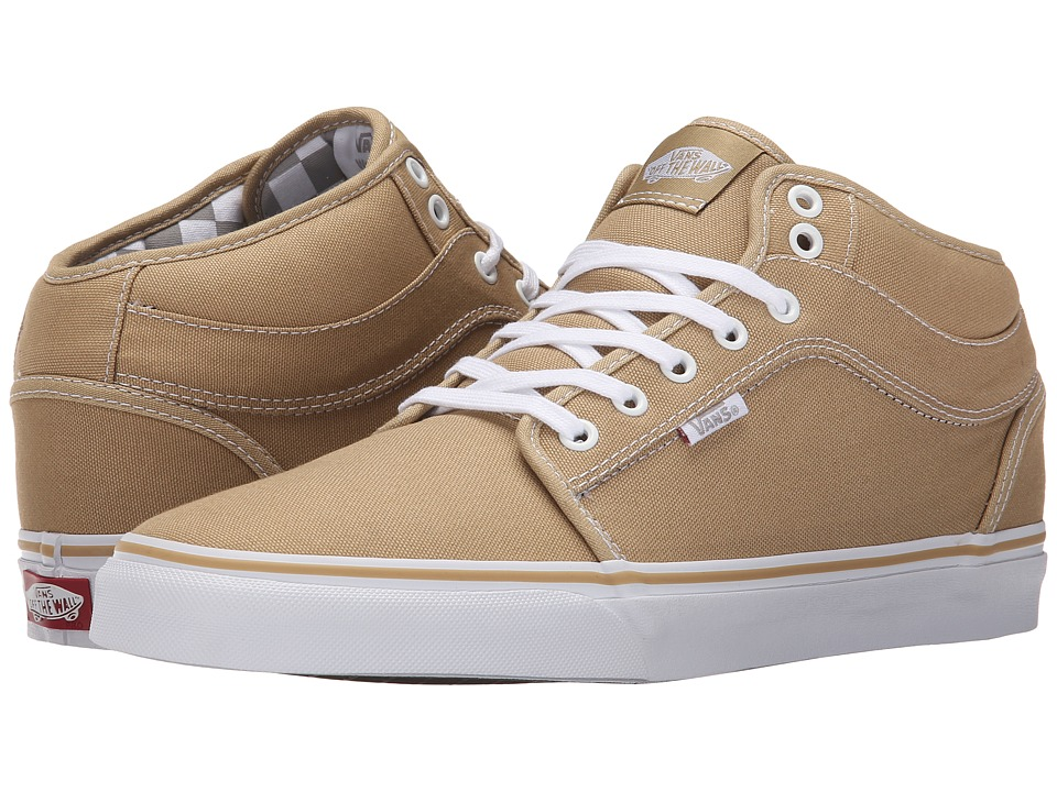 Vans - Chukka Mid Top (Tan/Inner Check) Men's Skate Shoes