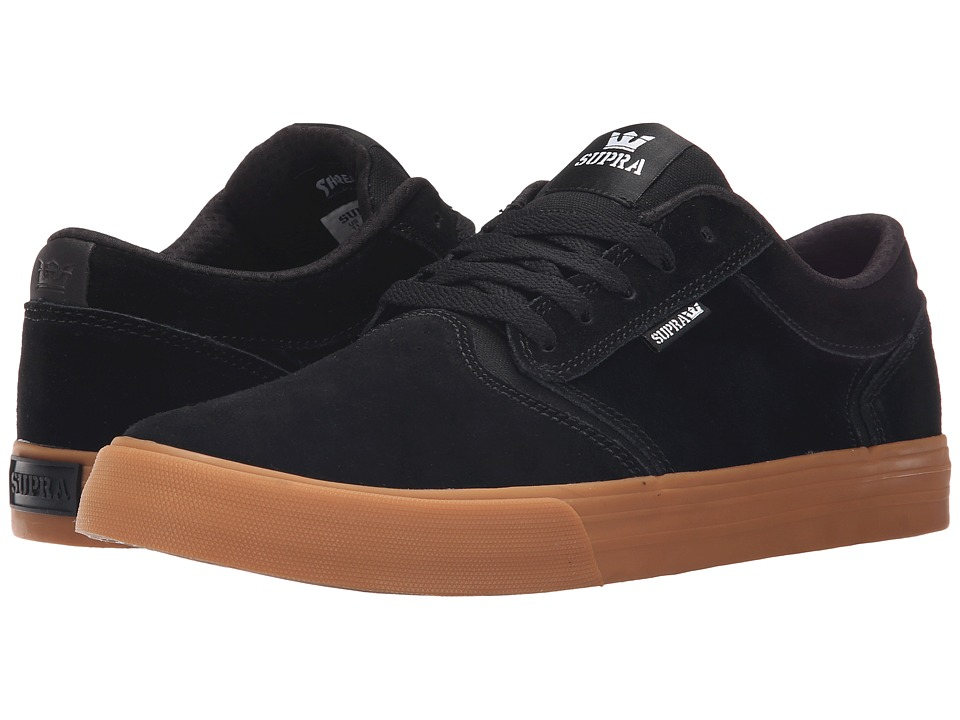 Supra - Shredder (Black/Gum) Men's Skate Shoes
