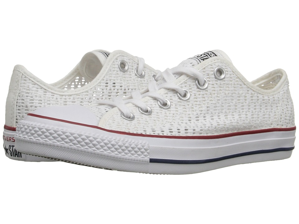 Converse - Chuck Taylor All Star Crochet Ox (White/White/Black) Women's Shoes