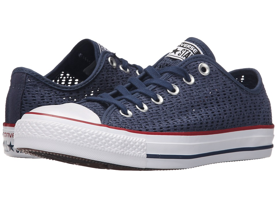 Converse Chuck Taylor All Star Crochet Ox (Navy/White/Black) Women