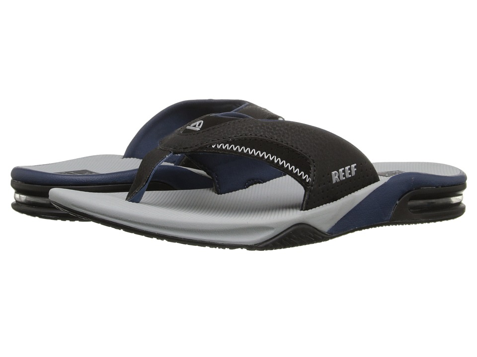 Reef - Fanning (Light Grey/Black) Men's Sandals