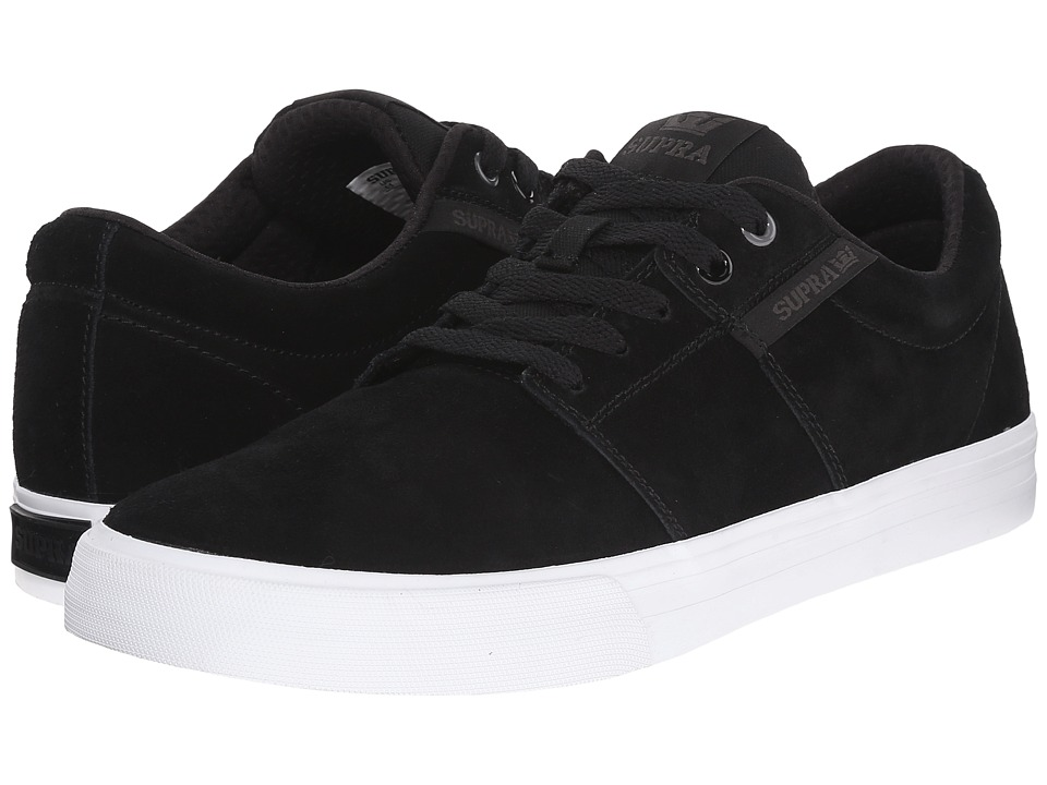 Supra - Stacks Vulc II (Black/White) Men's Skate Shoes