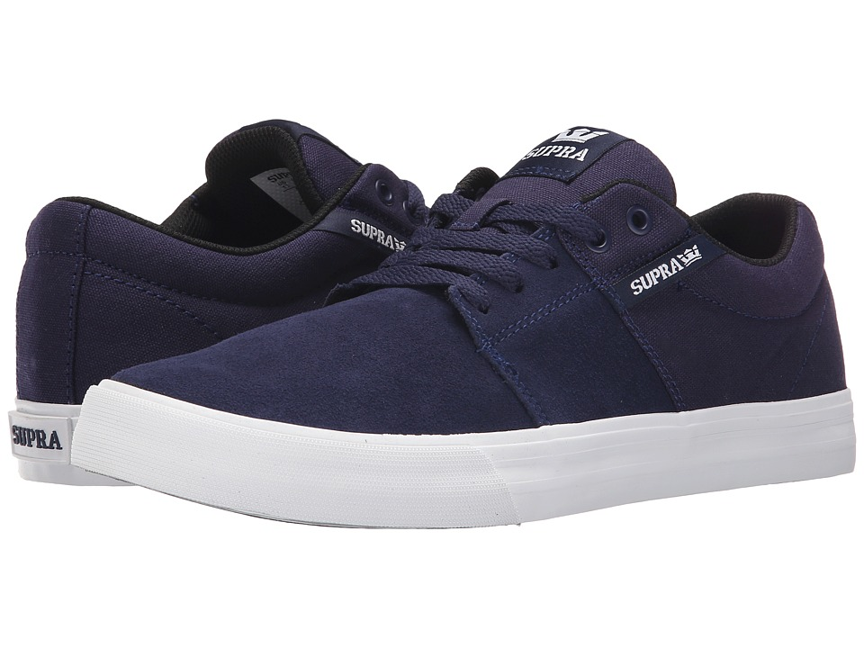 Supra - Stacks Vulc II (Navy/White) Men's Skate Shoes