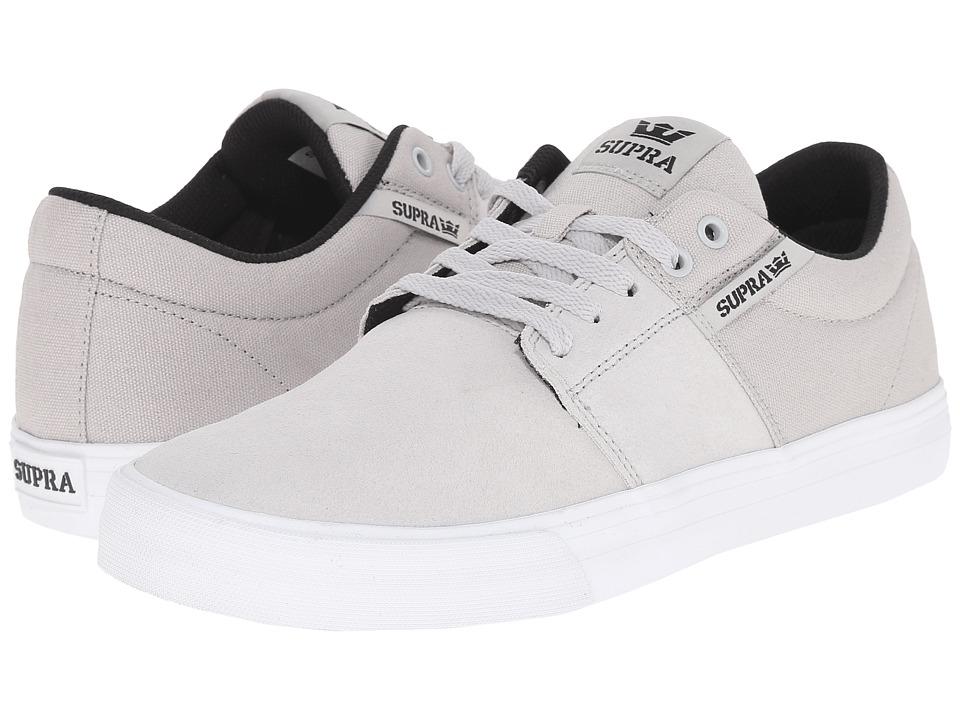 Supra - Stacks Vulc II (Light Grey/White 2) Men's Skate Shoes