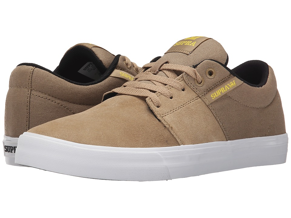 Supra - Stacks Vulc II (Khaki/White) Men's Skate Shoes