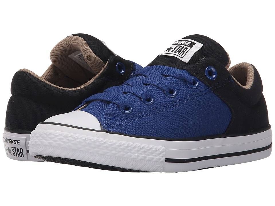 Converse Kids - Chuck Taylor All Star High Street Slip (Little Kid/Big Kid) (Roadtrip Blue/Black/Sandy) Boys Shoes